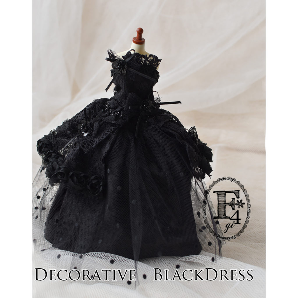 『DOLL OUTFIT STYLE (うっとりするほどかわいいドール服のレシピ)』よりDecorative BlackDress