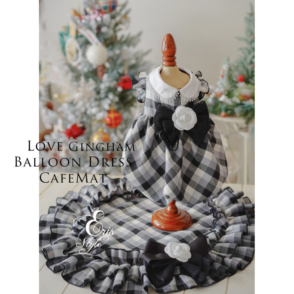 2018WinterCollection LoveGinghamBalloondress CafeMat